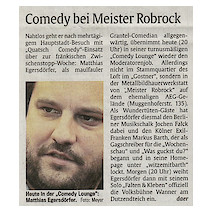 Comedy bei Meister Robrock